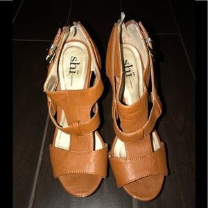 Brown Colored Wedges Size 6.5
